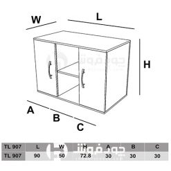 ابعاد-کنسول-دو-درب-TL907
