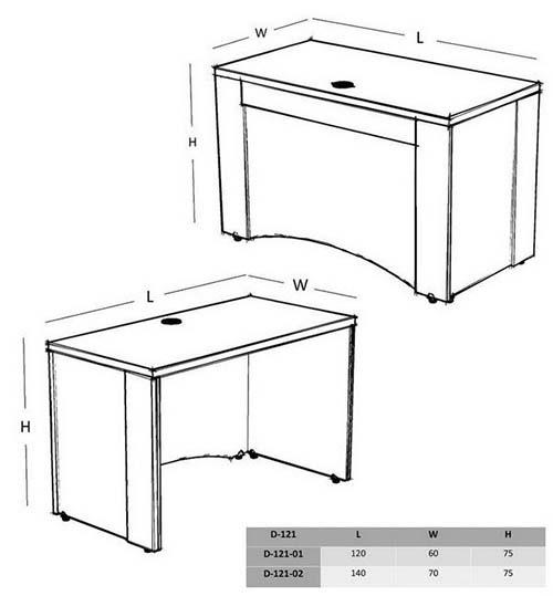 میز کامپیوتر مدرن