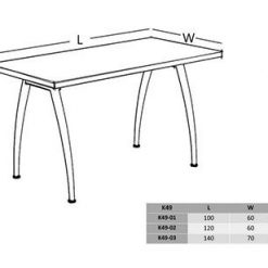 میز اداری با پایه فلزی