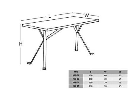 میز کارشناسی ام دی اف با پایه فلزی