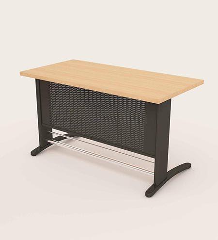 میز اداری ام دی اف پایه فلزی