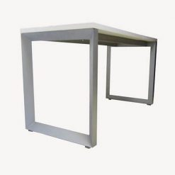 میز اداری ام دی اف با پایه فلزی