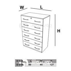 ابعاد-دراور-ام-دی-اف-6-کشو-D604