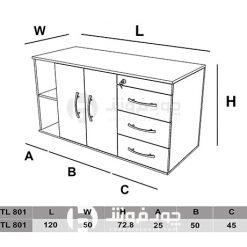 ابعاد-ست-کنار-میز-اداری-TL801