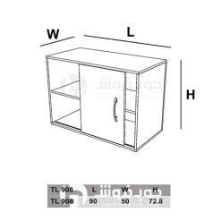 ابعاد-کمد-زونکن-اداری-درب-دار-TL908