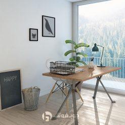 میز جدید با پایه فلزی