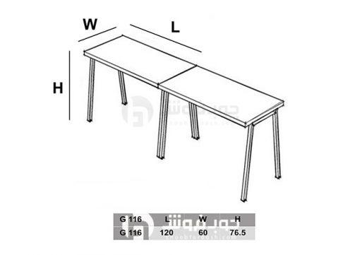 ابعاد-میز-گروهی-G116