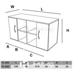 ابعاد-کنسول-اداری-کمد-دار-TL803