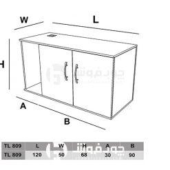 ابعاد-کنار-میز-ام-دی-اف-TL809