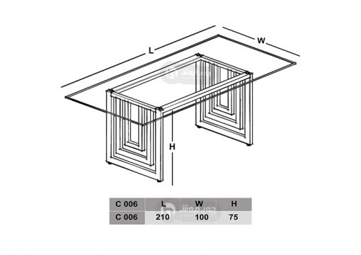 میز-کنفرانس-شیشه-ای-نقشه