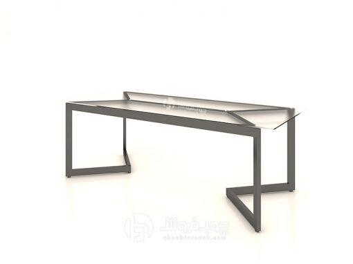 میز-کنفرانس-مدرن-شیشه-ای-تک