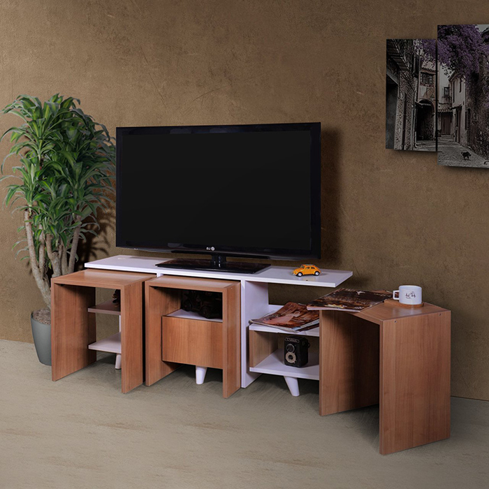 میز-تلویزیون-شیشه-ای