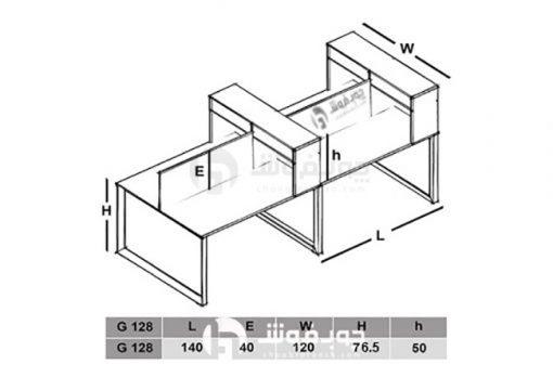 ابعاد-میز-گروهی-G128