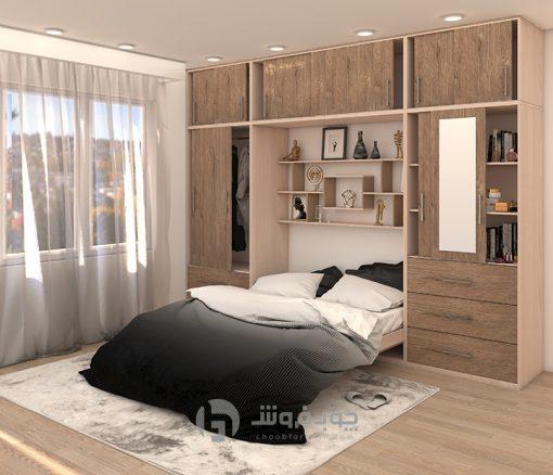 تخت-تاشو-دو-نفره-چوبی