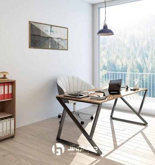 میز-مدرن-اداری-پایه-فلزی