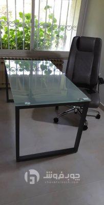 میز و صندلی اداری شیشه ای