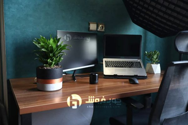 میز-پایه-فلزی-با-صفحه-ام-دی-اف