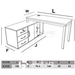 ابعاد میز مدیریتی