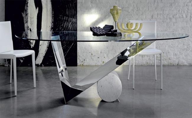 میز اداری شیشه ای