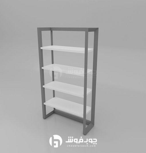 انواع-کتابخانه-با-پایه-فلزی-مدرن-L901