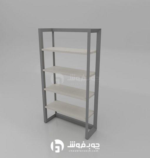 عکس-کتابخانه-چوبی-پایه-فلز-L901