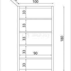 قیمت-کتابخانه-با-پایه-فلزی-L901