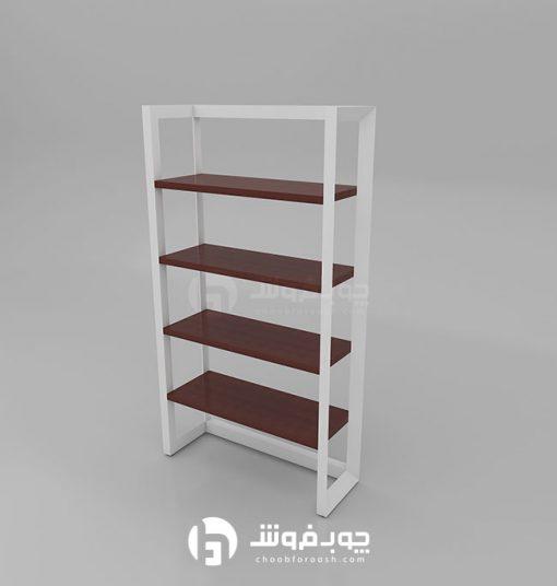 قیمت-کتابخانه-چوبی-پایه-فلز-L901