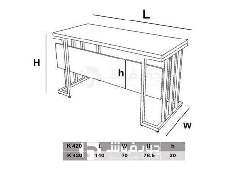 ابعاد-میز-جدید-چوبی-با-پایه-فلزی-K330