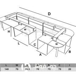 ابعاد-میز-کنفرانس-C007