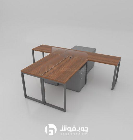 خرید-میز-گروهی-پایه-فلزی-G137