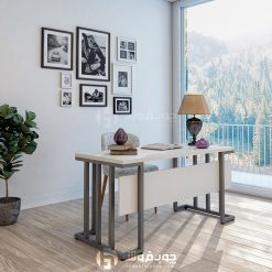 میز-چوبی-با-پایه-فلزی--K330