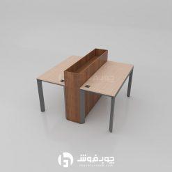 میز کار دو نفره با فلاور باکس