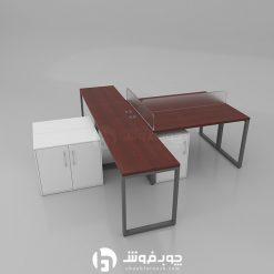 میز-کار-گروهی-پایه-فلزی-جدید-G137