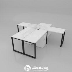 میز-کار-گروهی-4-نفره-پایه-فلزی-G137