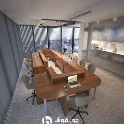 میز کنفرانس اداری مدرن 13 نفره