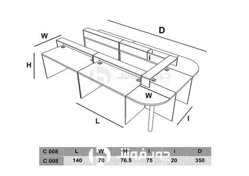 ابعاد-استاندارد-میز-کنفرانس-C008
