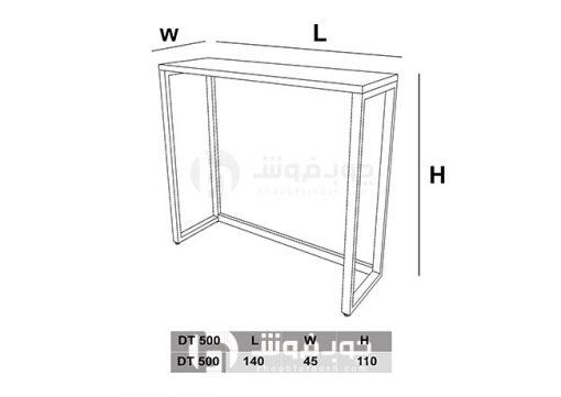 ابعاد-میز-نهار-خوری-پایه-فلزی-DT500