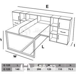 ابعاد-میز-گروهی-کاربردی-G125