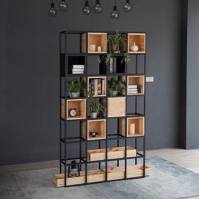 انوع-قفسه-کتاب-فلزی-و-چوبی