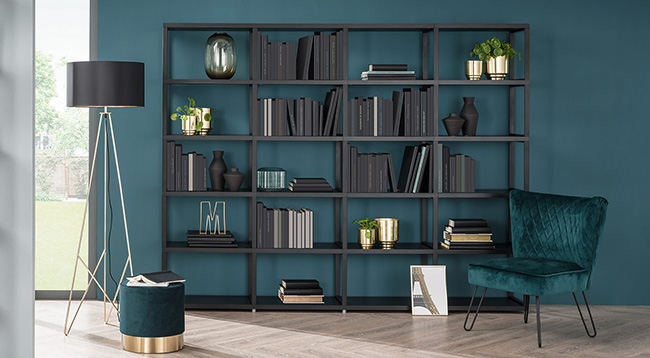 قفسه کتاب فلزی مدرن