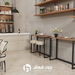 میز-نهار-خوری-پایه-فلزی-DT500