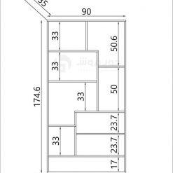 کتابخانه-MDF-مدرن-L960