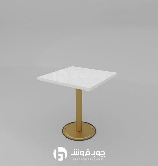 میز-ناهار-خوری-کم-جا-سفید-طلایی-K75
