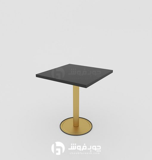 میز-ناهار-خوری-کم-جا-مشکی-طلایی-K75