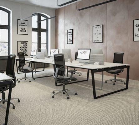میز-گروهی-اداری-پایه-فلزی-مدرن